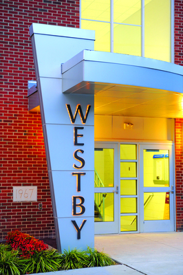 Front of the Westby Building