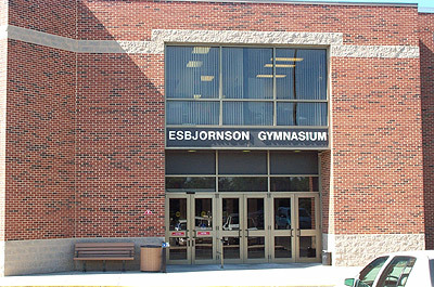 The front of the Esby Gymnasium